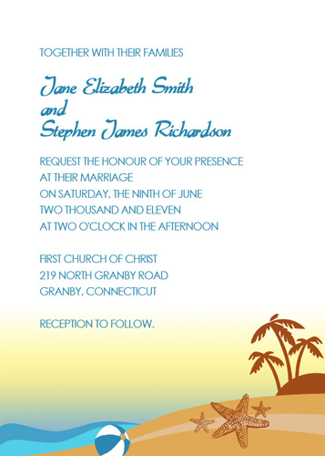 Image preview of beach wedding Invitation