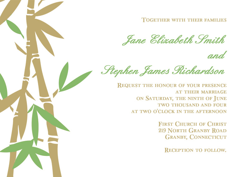 image preview of bamboo wedding invitation