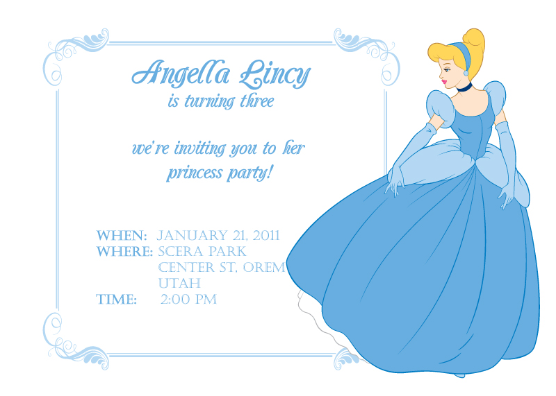 Cinderella Printable Birthday Invitation Template