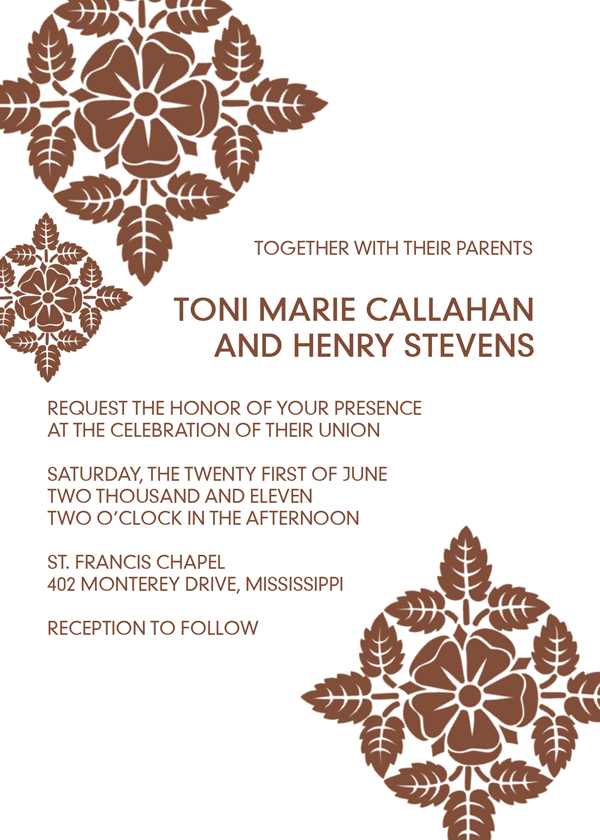 Simple lace printable wedding invite.