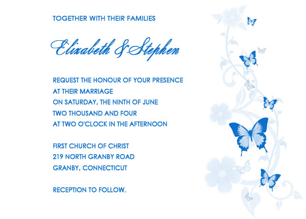 Butterfly Free Wedding Invitation Wedding Invitation Templates – Free Printable Blank Wedding Invitation Templates