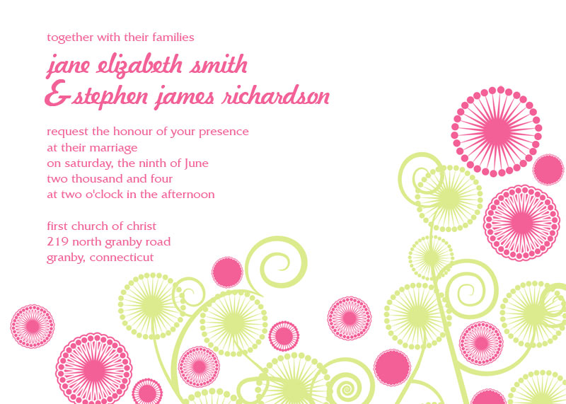 Abstract Circles printable invitation